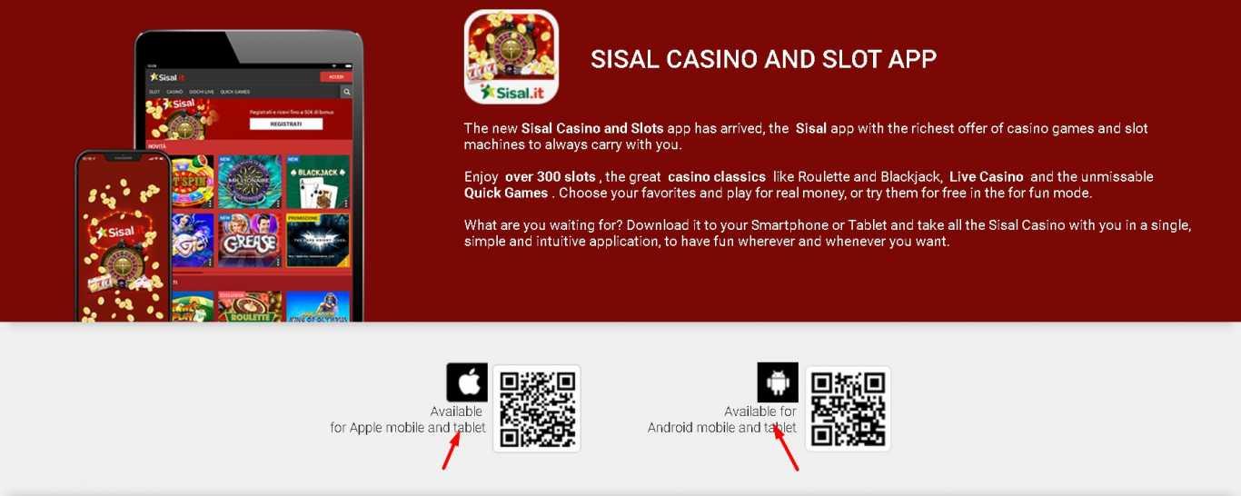Sisal casino app