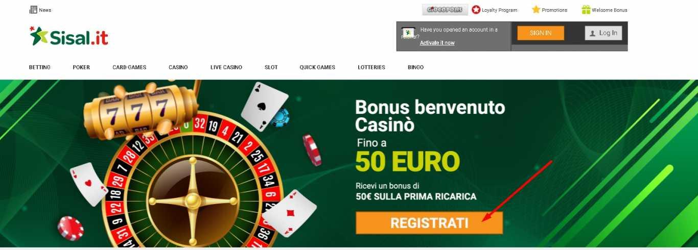 Sisal casino bonus