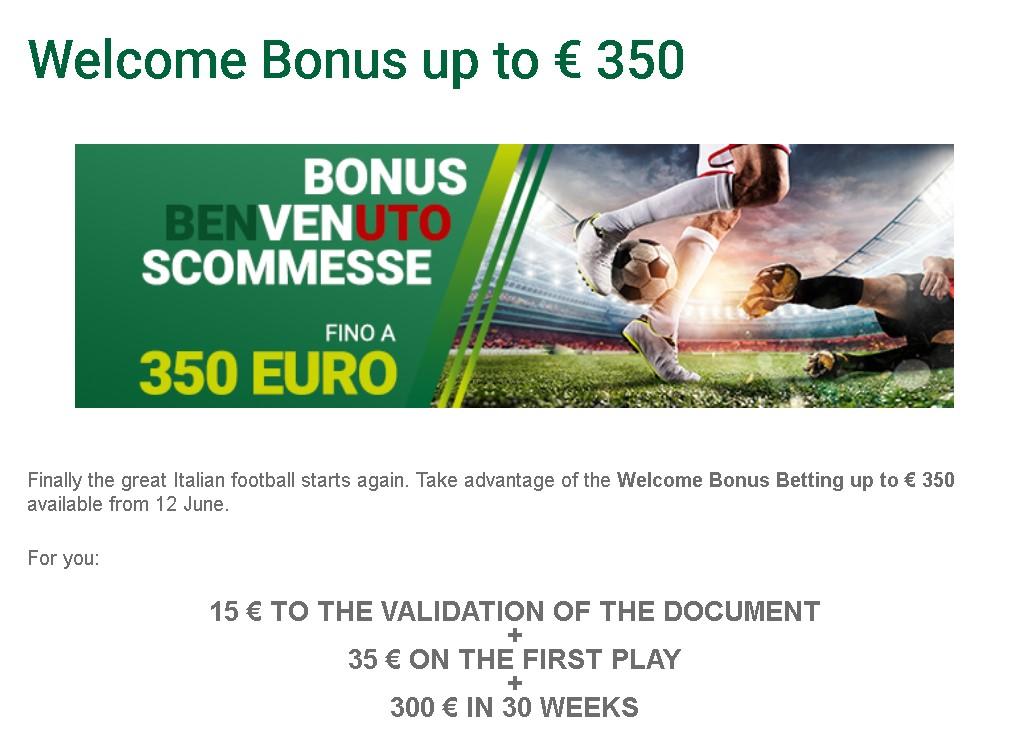 Sisal welcome bonus